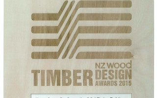 16.9.2015 Irving Smith Architects win Excellence in Engineered Wood Products and Highly Commended in Commercial Architectural Excellence at the Timber NZ Wood Design Awards 2015