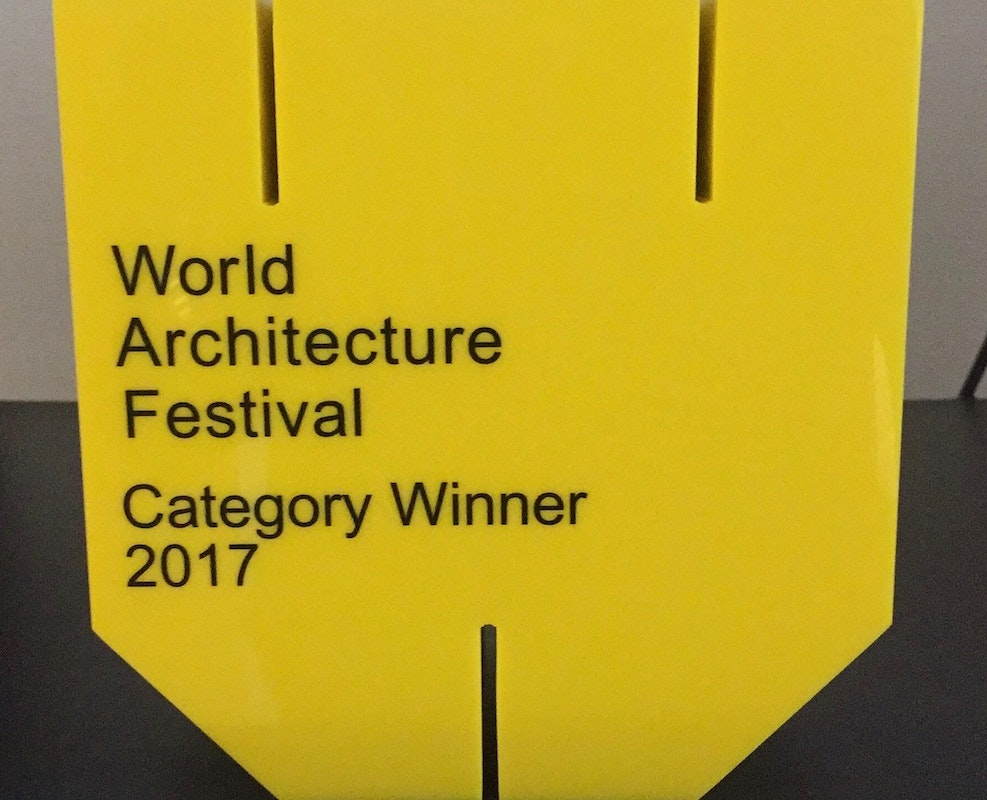16.11.17 ISA wins Villa Category at World Architecture Festival 2017, Berlin